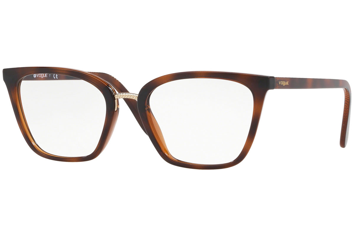 Vogue VO5260 2386. Frame color: Havana, Lens color: Crystal, Frame shape: Cat Eye