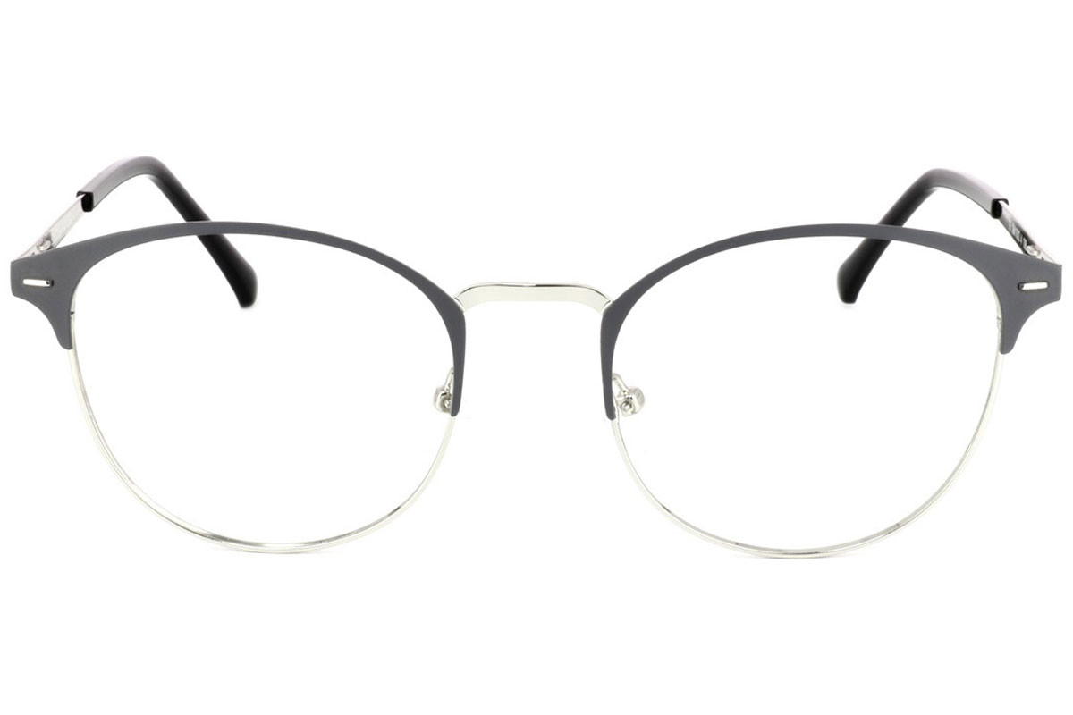 eyerim collection Beck C4. Frame color: Siva, Lens color: Kristalna, Frame shape: Okrogla