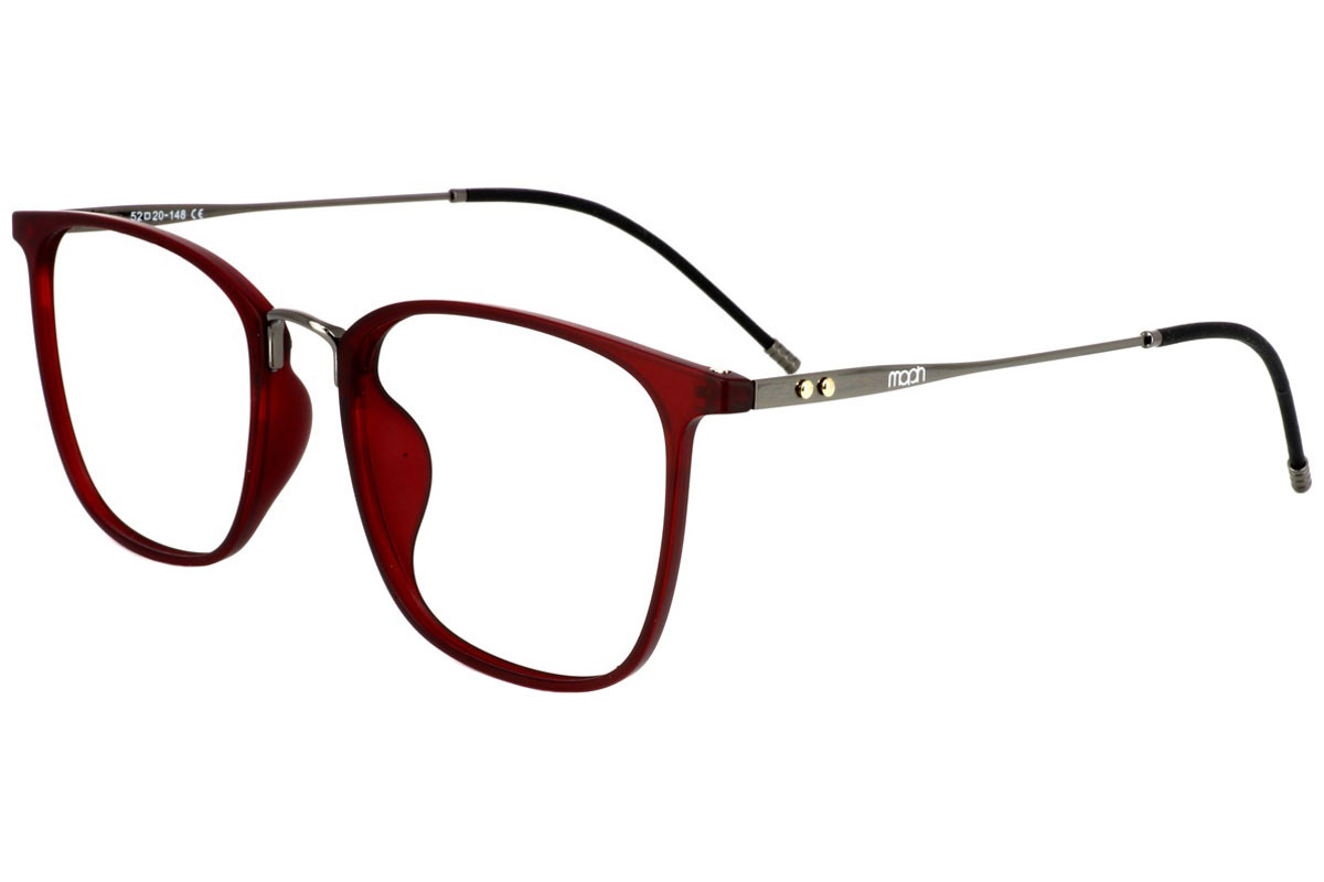 eyerim collection Mike C4. Frame color: Red, Lens color: Crystal, Frame shape: Squared