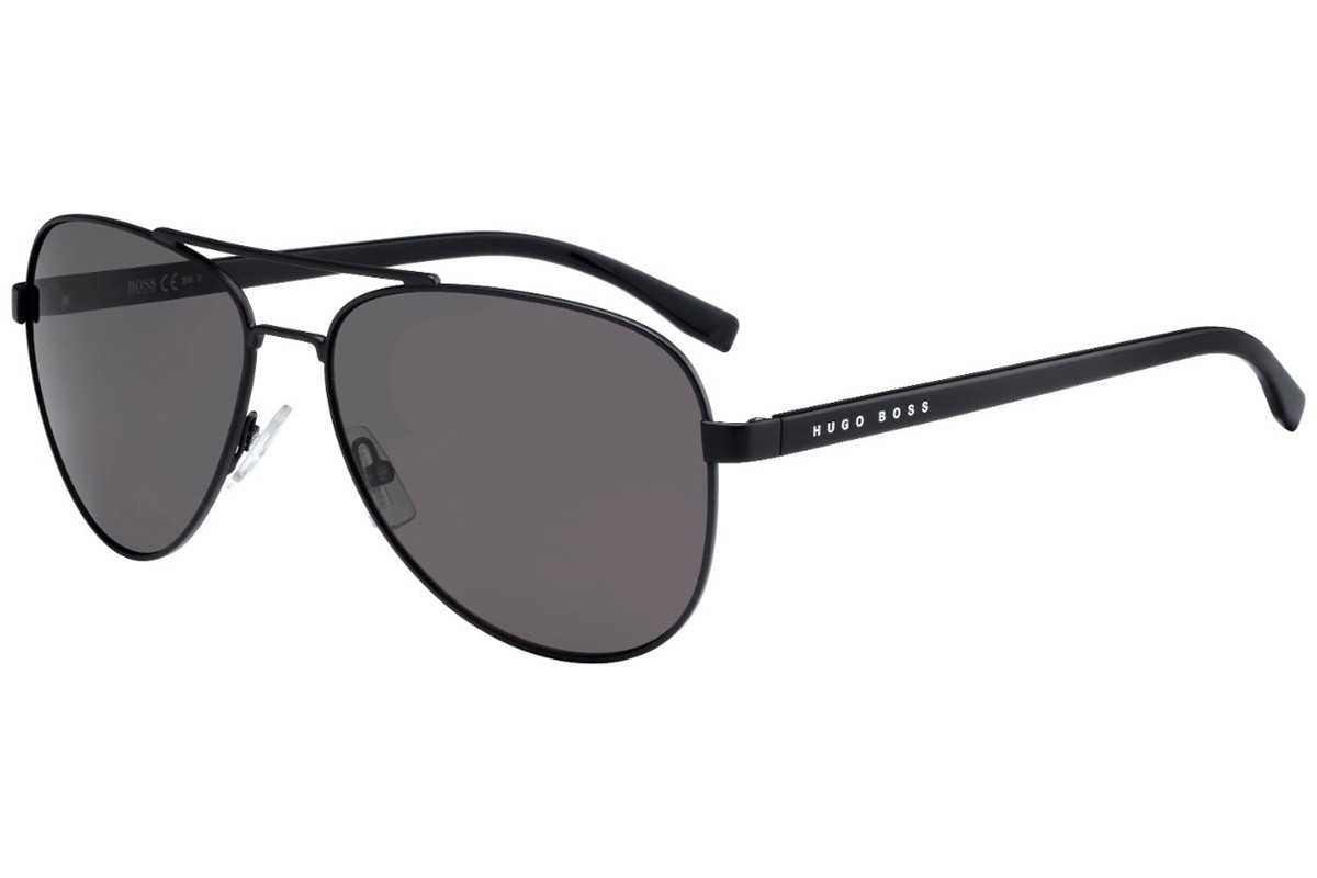BOSS by Hugo Boss BOSS0761/S 10G/NR. Frame color: Črna, Lens color: Rjava, Frame shape: Pilotska