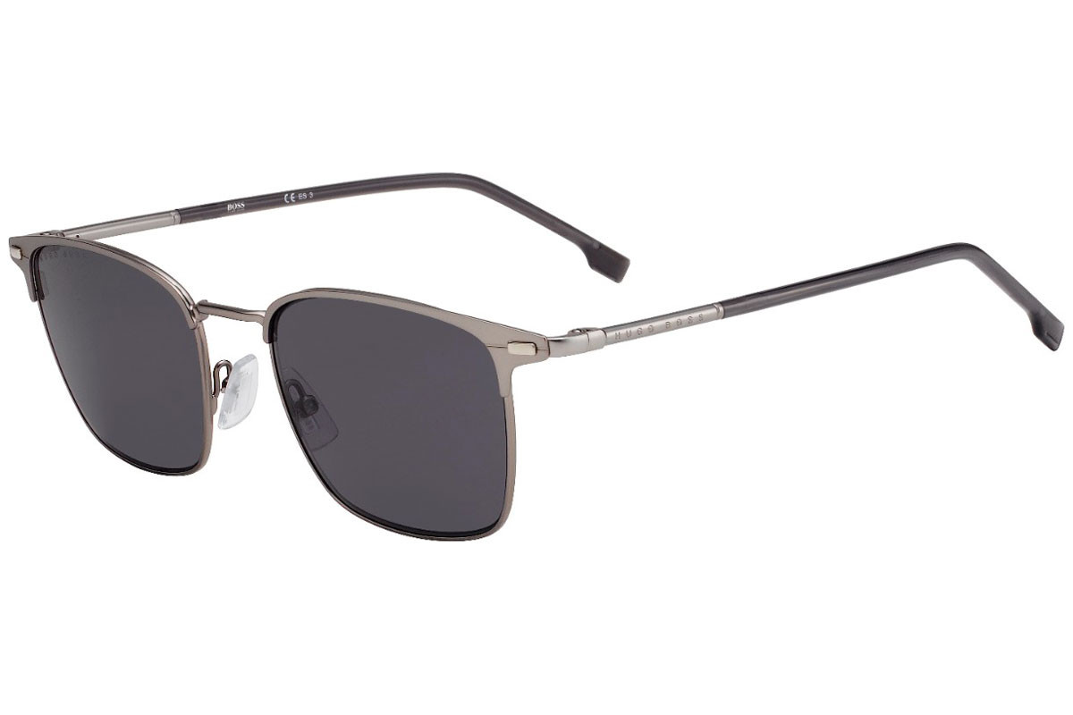 BOSS by Hugo Boss BOSS1122/S R81/IR. Frame color: Silber, Lens color: Grau, Frame shape: Browline