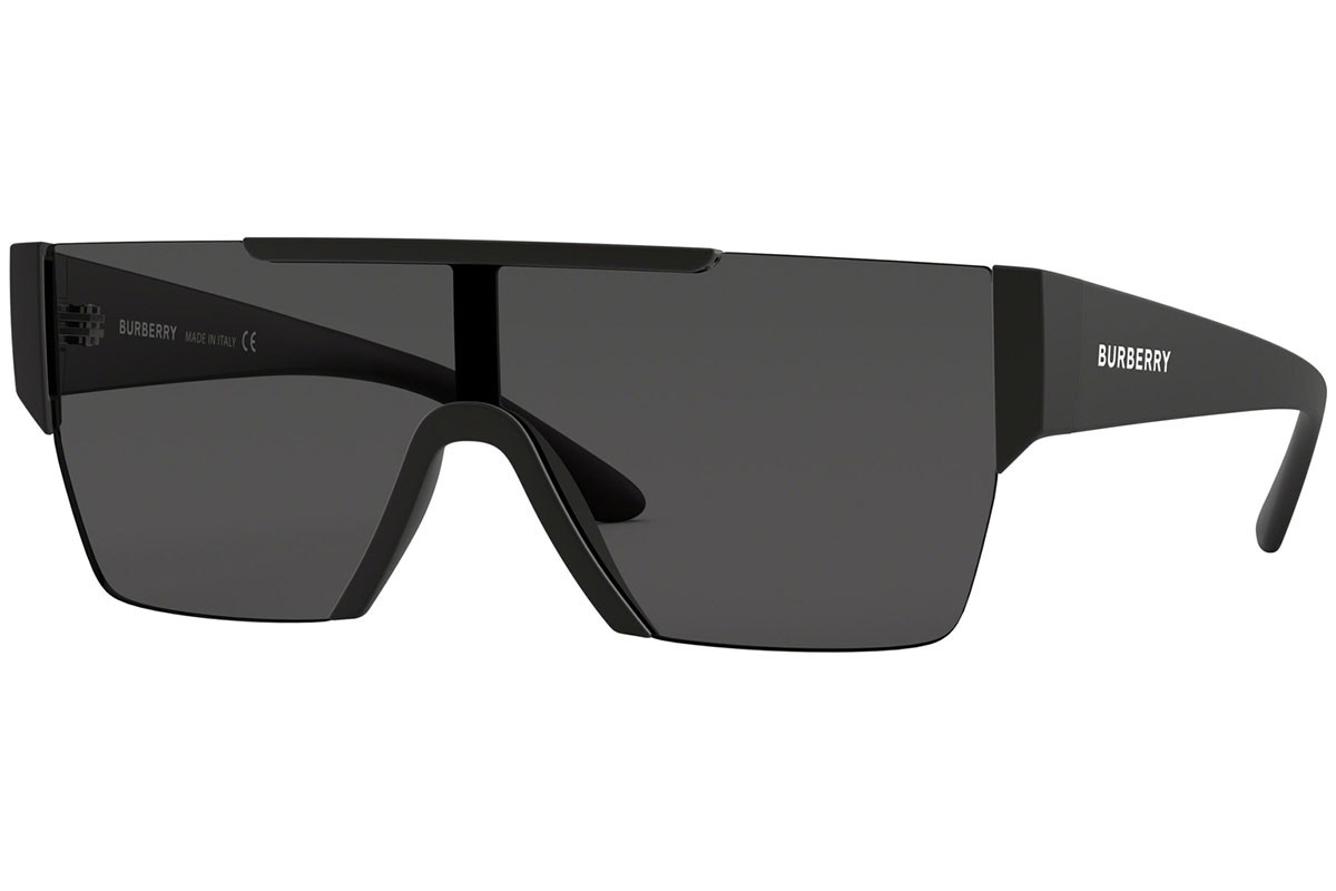 Burberry BE4291 346487. Frame color: Black, Lens color: Grey, Frame shape: Flat Top
