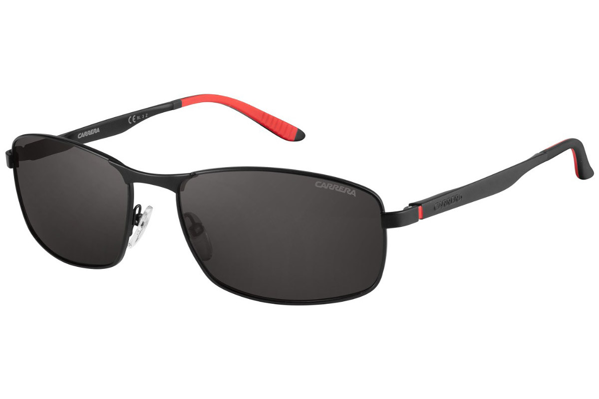 Carrera Carrera8012/S 003/M9 Polarized. Frame color: Black, Lens color: Black, Frame shape: Rectangular
