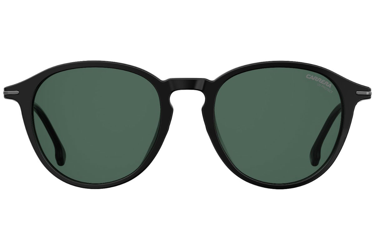 Carrera CARRERA196/F/S 807/QT. Frame color: Black, Lens color: Green, Frame shape: Round