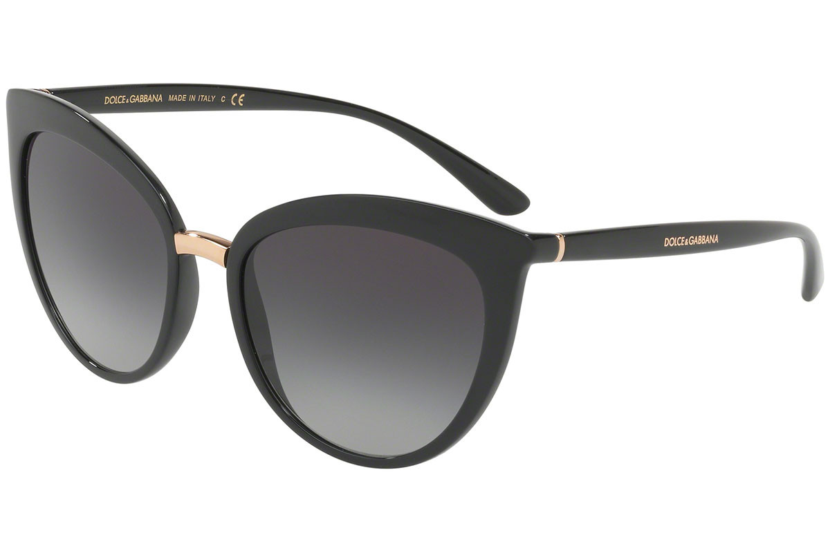 Dolce & Gabbana DG6113 501/8G. Frame color: Schwarz, Lens color: Grau, Frame shape: Cat Eye
