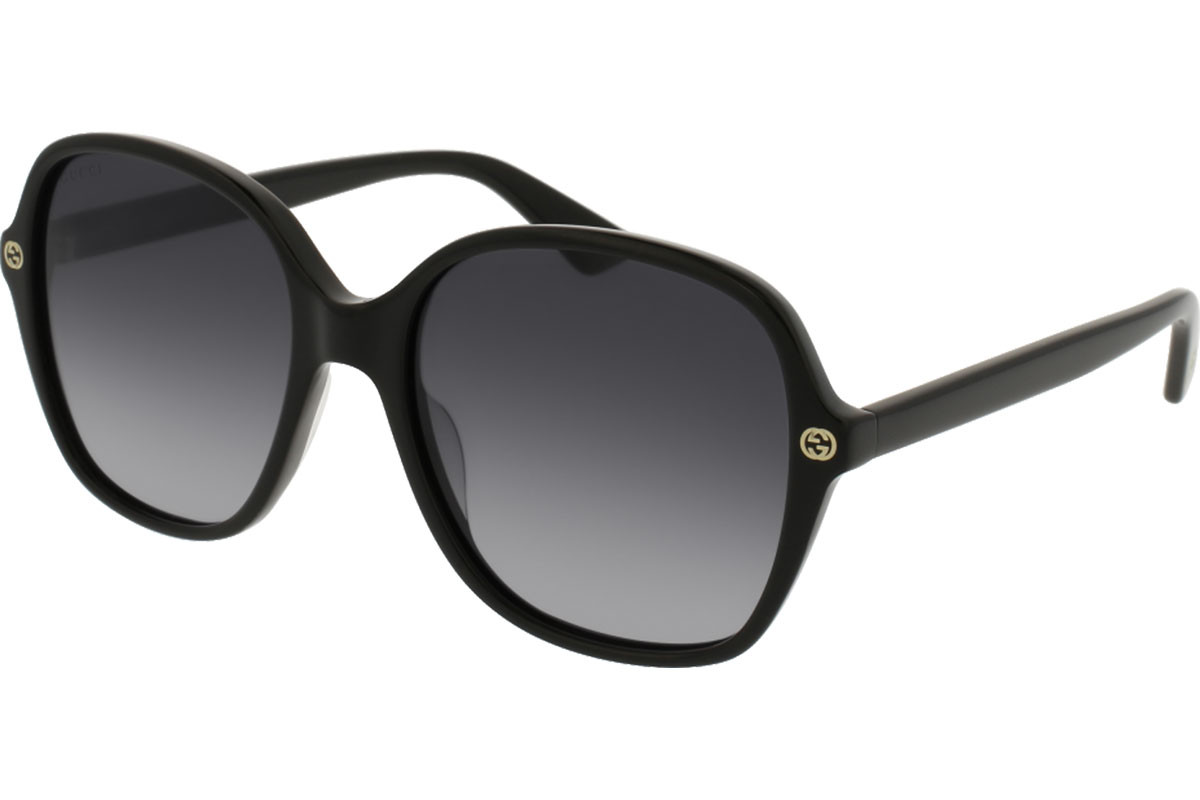 Gucci GG0092S 001. Frame color: Crni, Lens color: Sivi, Frame shape: Oversize