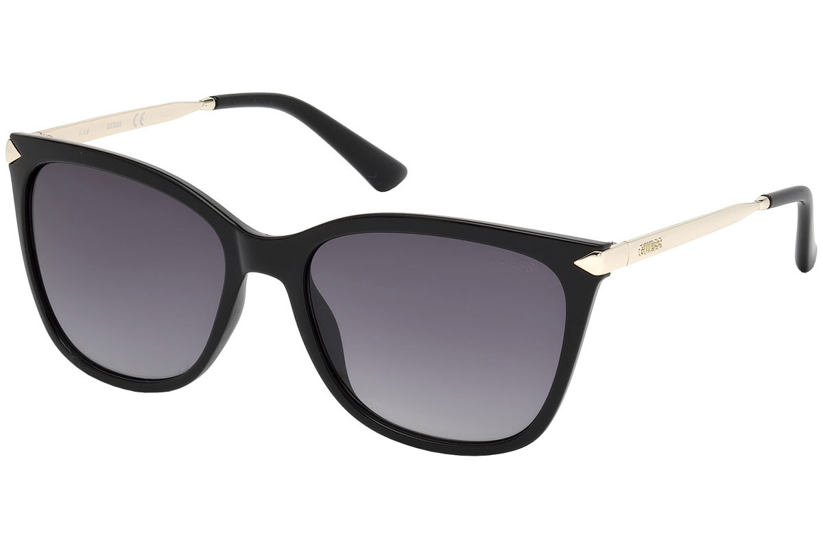 Guess GU7483 01B. Frame color: Black, Lens color: Grey, Frame shape: Squared