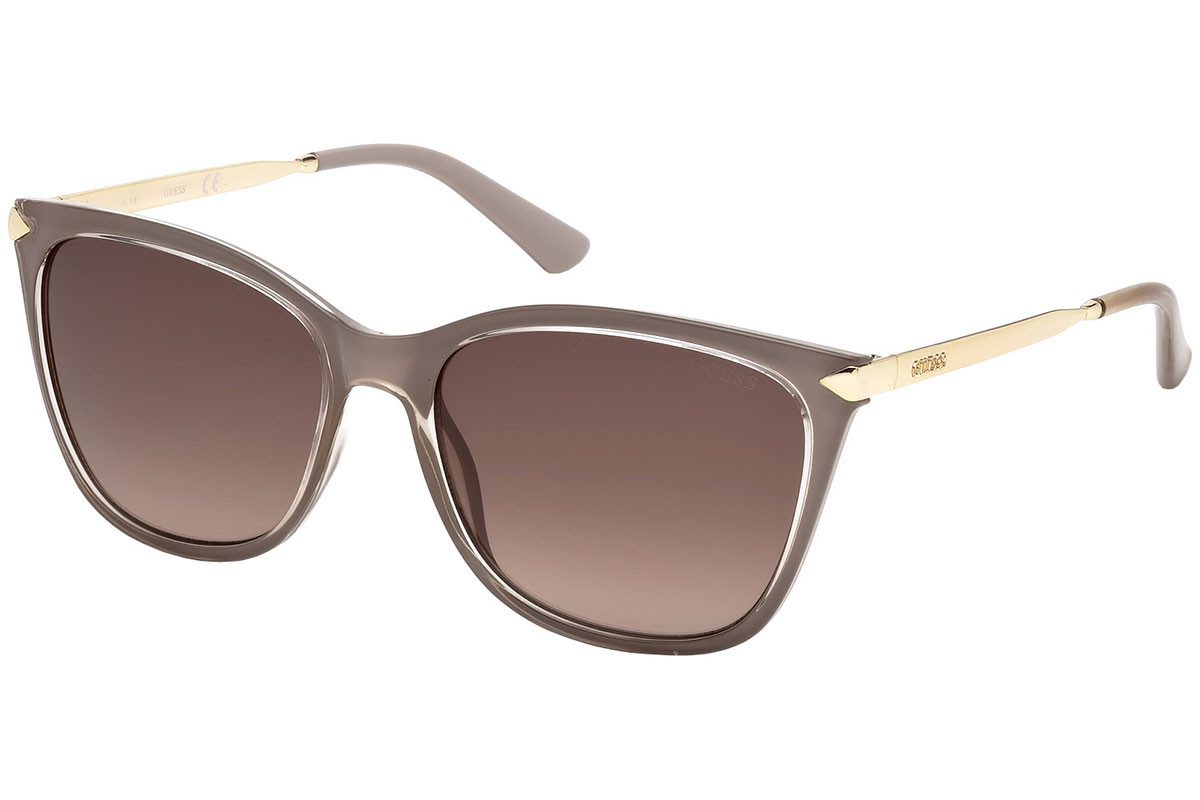 Guess GU7483 57F. Frame color: Beige, Lens color: Brown, Frame shape: Squared