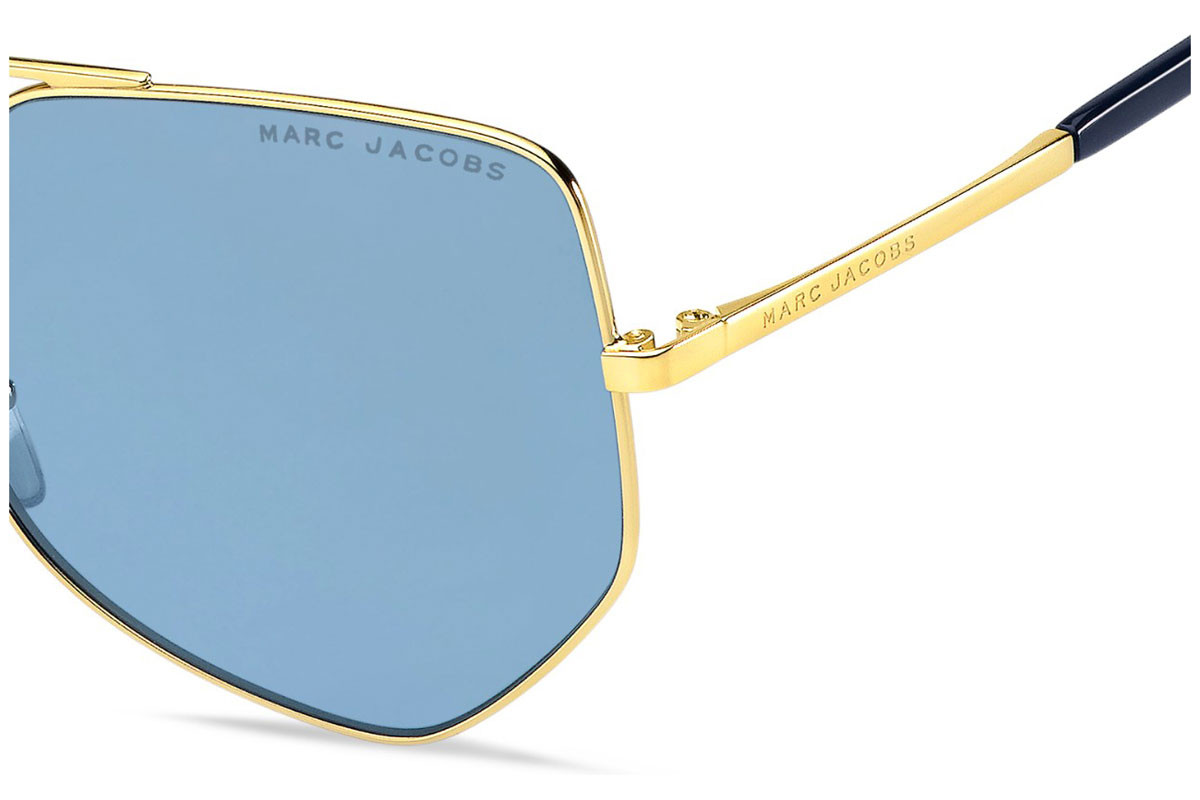 Marc Jacobs MARC326/S LKS/KU. Frame color: Gold, Lens color: Blue, Frame shape: Squared