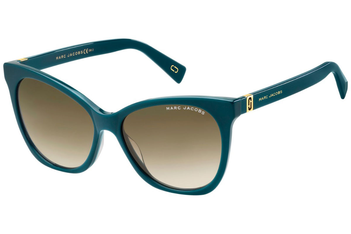 Marc Jacobs MARC336/S MR8/HA. Frame color: Blue, Lens color: Brown, Frame shape: Cat Eye