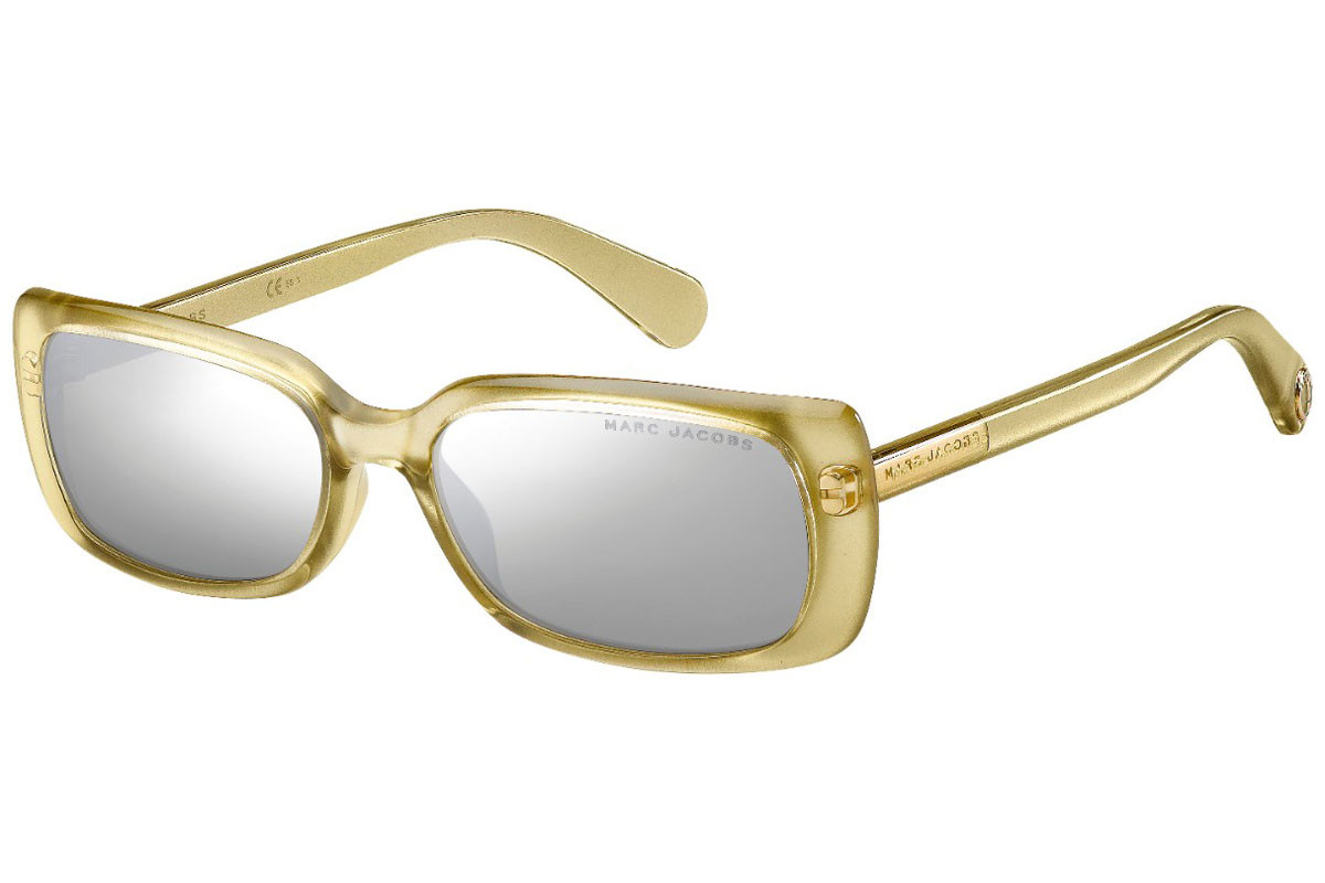 Marc Jacobs MARC361/S J5G/T4. Frame color: Yellow, Lens color: Grey, Frame shape: Rectangular