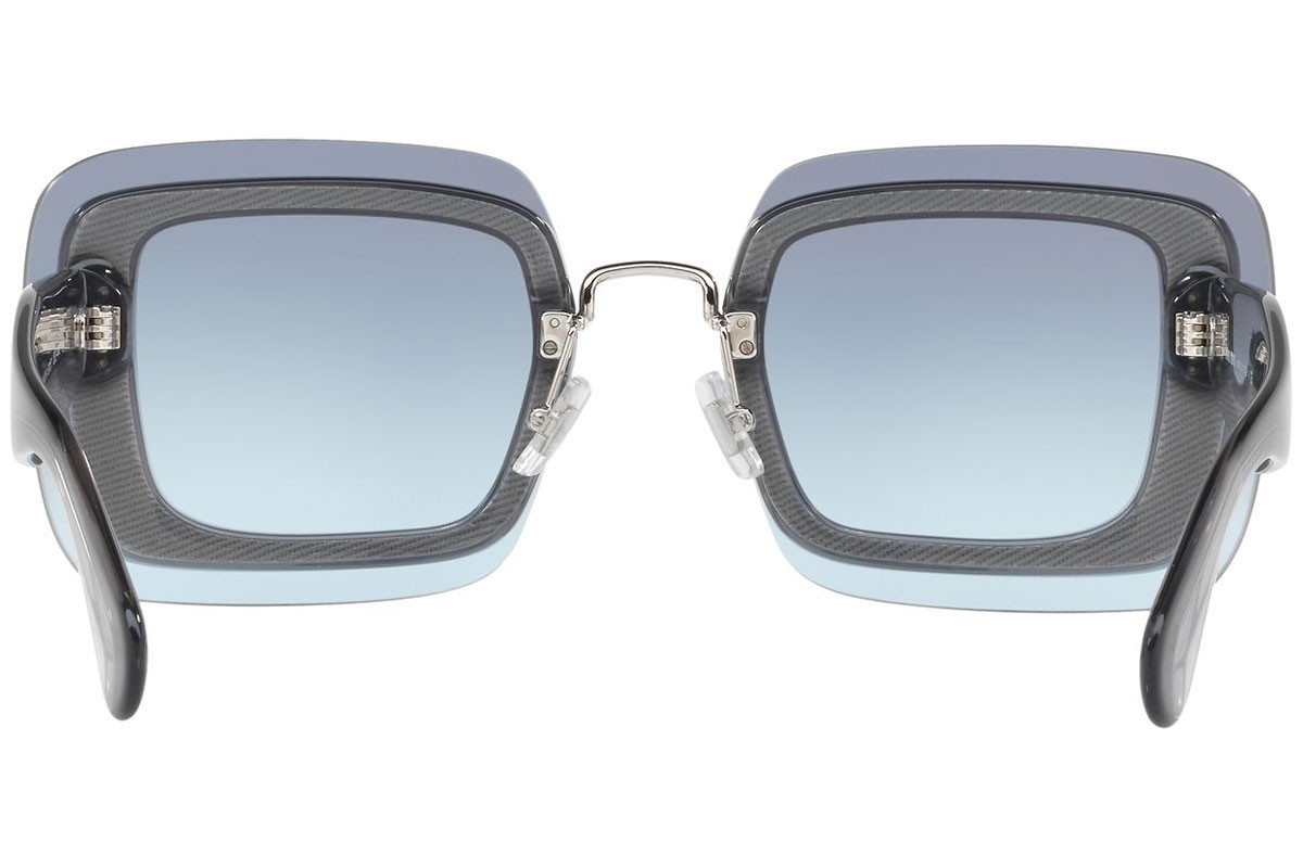Miu Miu Special Project MU01RS UES4R2. Frame color: Grey, Lens color: Blue, Frame shape: Oversize