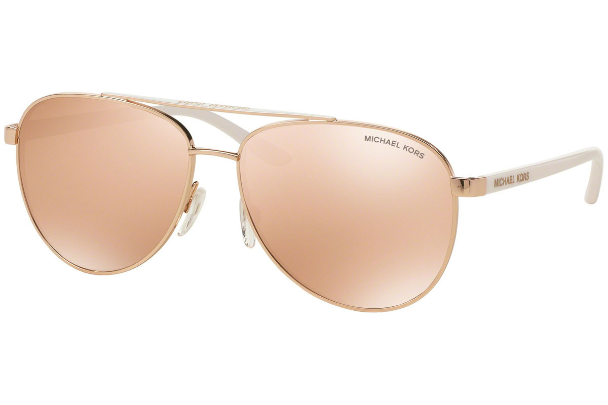 Michael Kors Hvar MK5007 1080R1. Frame color: Gold, Lens color: Gold, Frame shape: Pilot