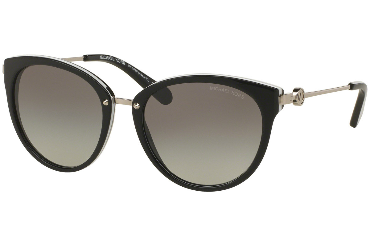 Michael Kors Abela III MK6040 312911. Frame color: Black, Lens color: Grey, Frame shape: Oversize