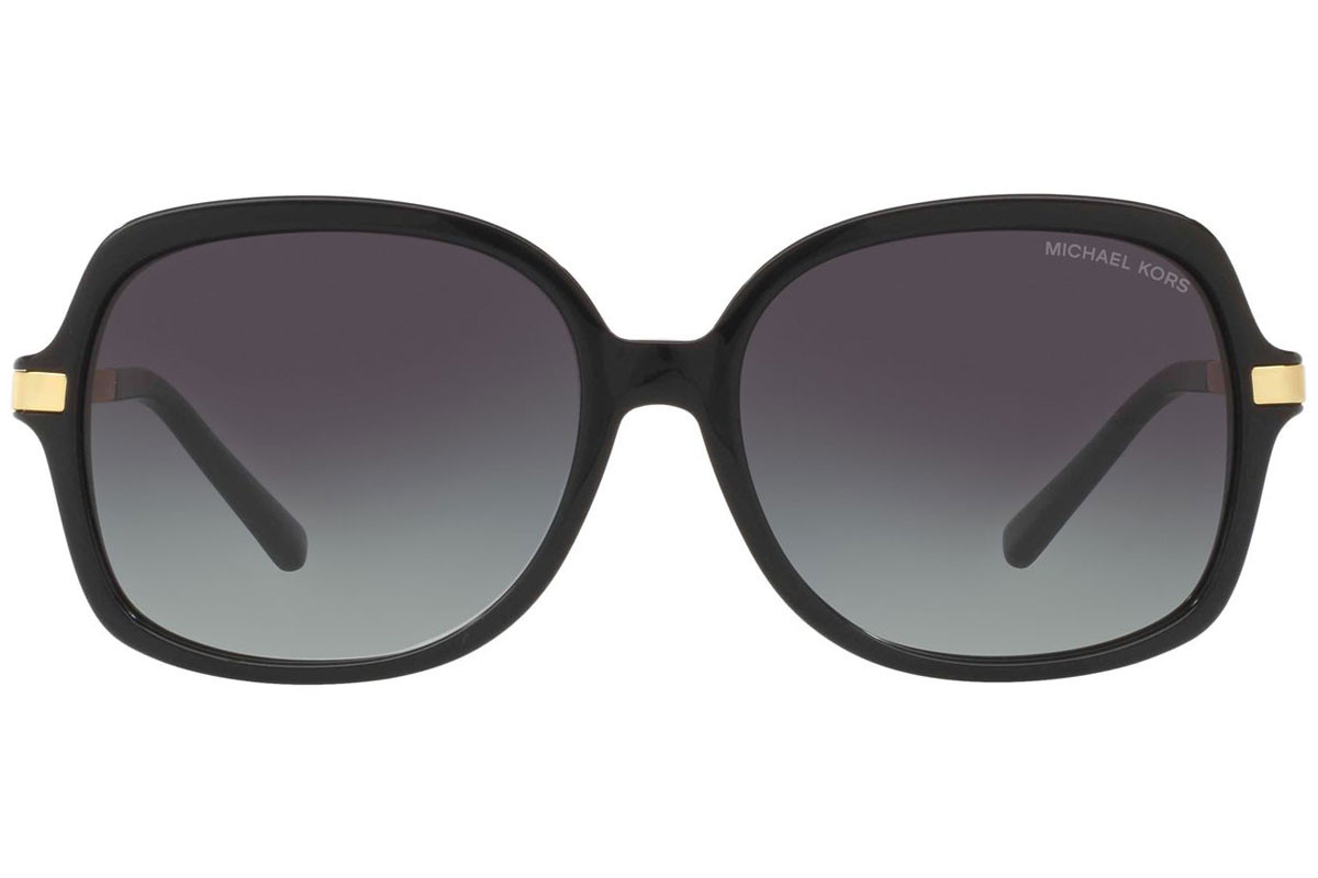 Michael Kors Adrianna II MK2024 316011. Frame color: Black, Lens color: Grey, Frame shape: Oversize
