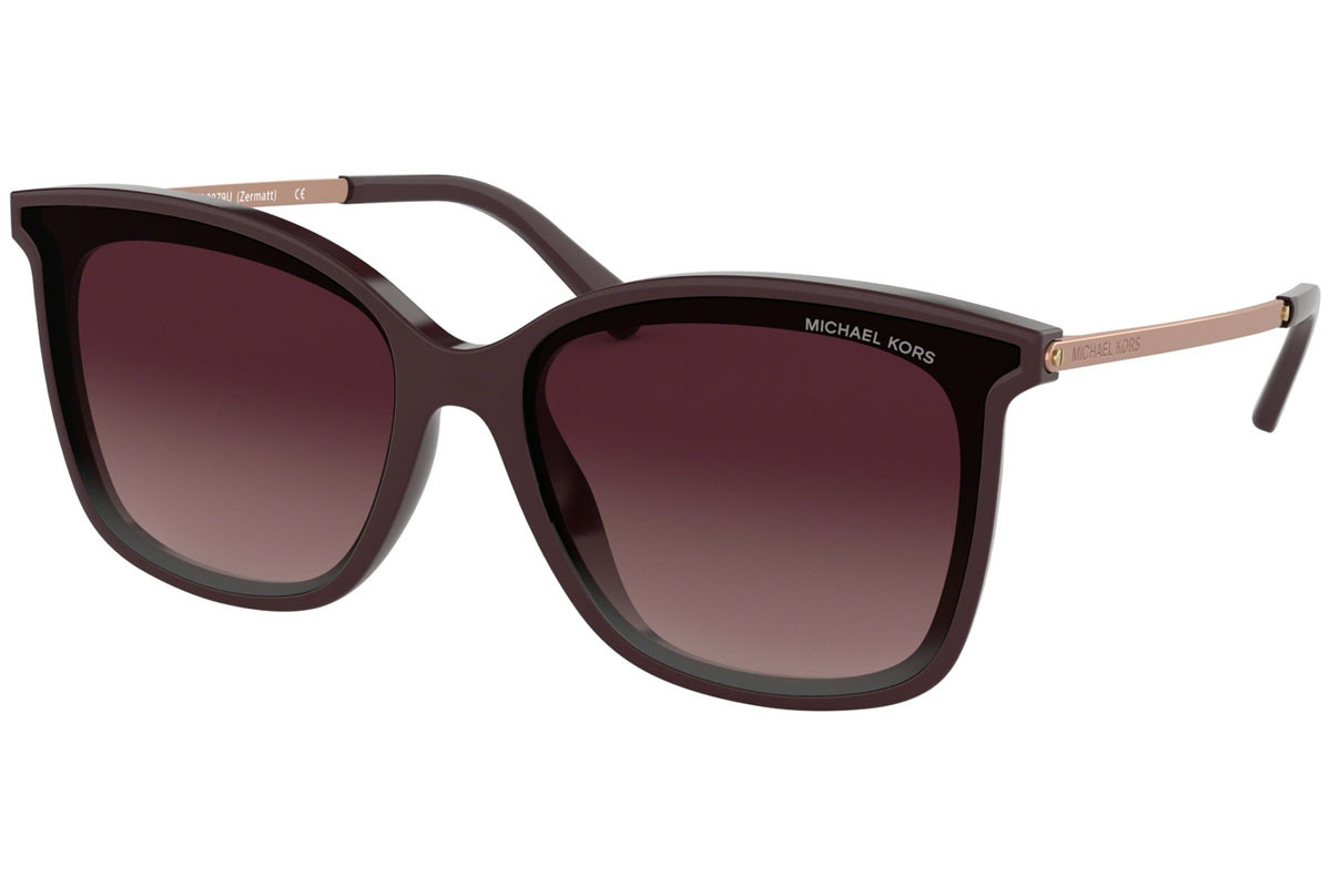 Michael Kors Zermatt MK2079U 33448H. Frame color: Braun, Lens color: Lila, Frame shape: Cat Eye