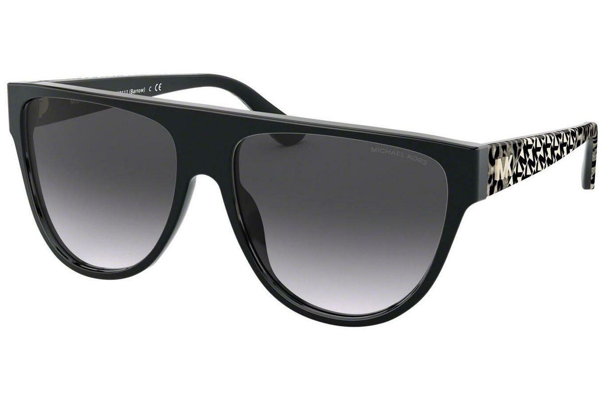 Michael Kors Barrow MK2111 30058G. Frame color: Schwarz, Lens color: Grau, Frame shape: Flat Top