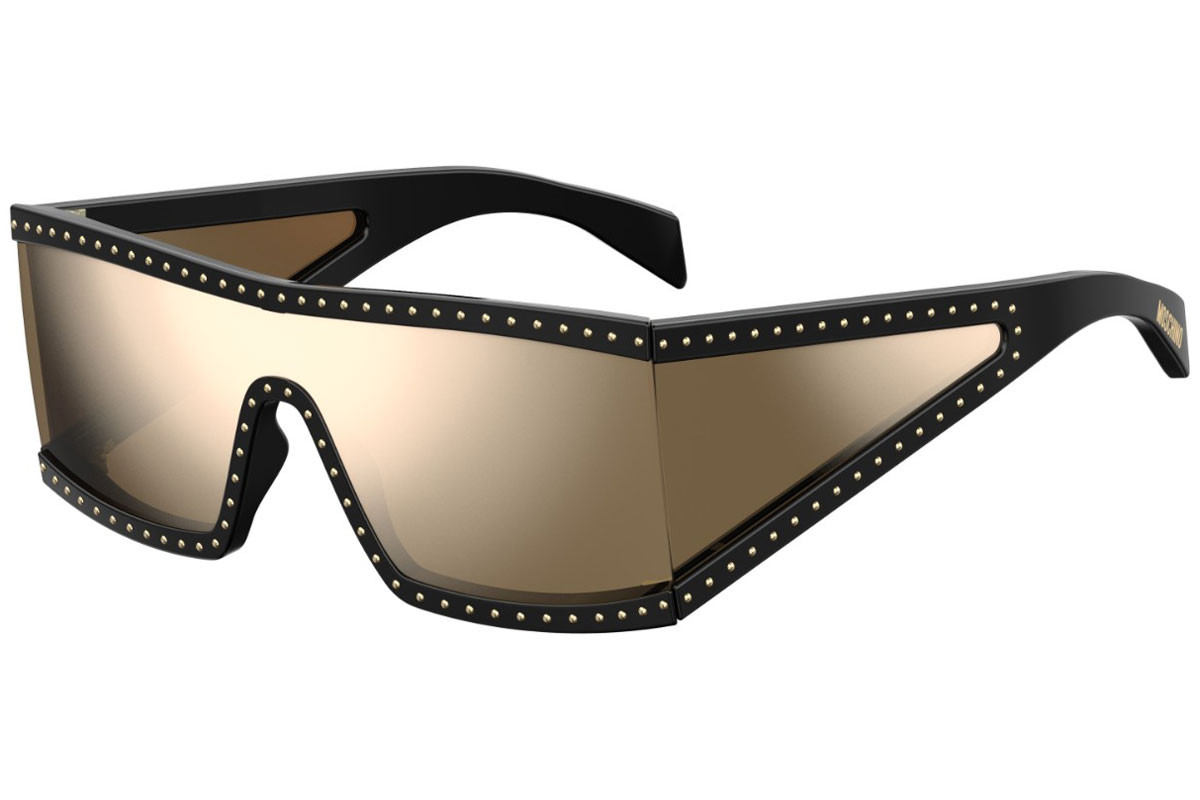 Moschino MOS004/S 2M2/SQ. Frame color: Schwarz, Lens color: Gold, Frame shape: Flat Top