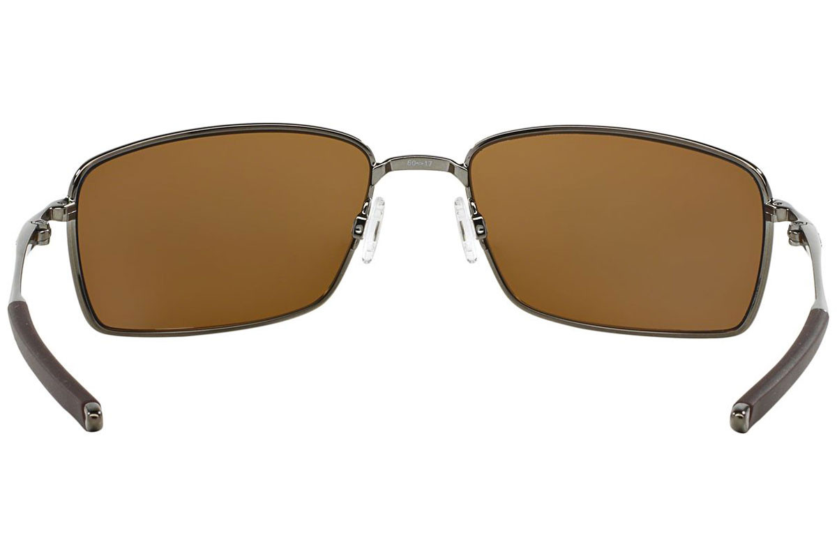 Oakley Square Wire OO4075-06 Polarized. Frame color: Grey, Lens color: Brown, Frame shape: Rectangular