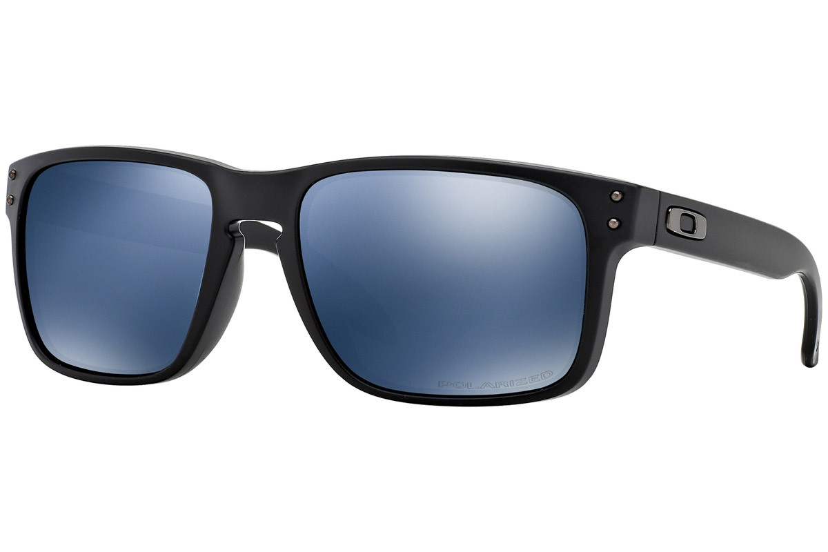 Oakley Holbrook OO9102-52 Polarized. Frame color: Schwarz, Lens color: Blau, Frame shape: Quadratisch