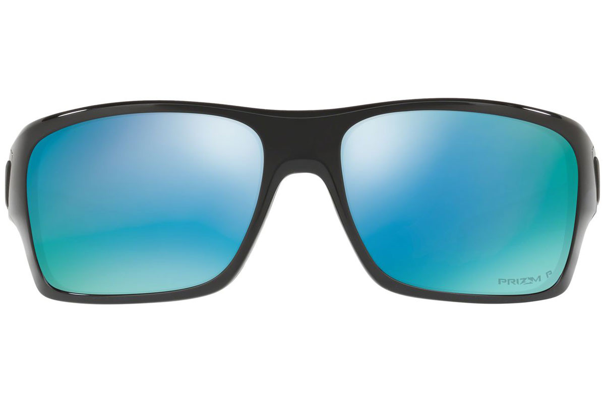 Oakley Turbine OO9263-14 PRIZM Polarized. Frame color: Black, Lens color: Blue, Frame shape: Rectangular
