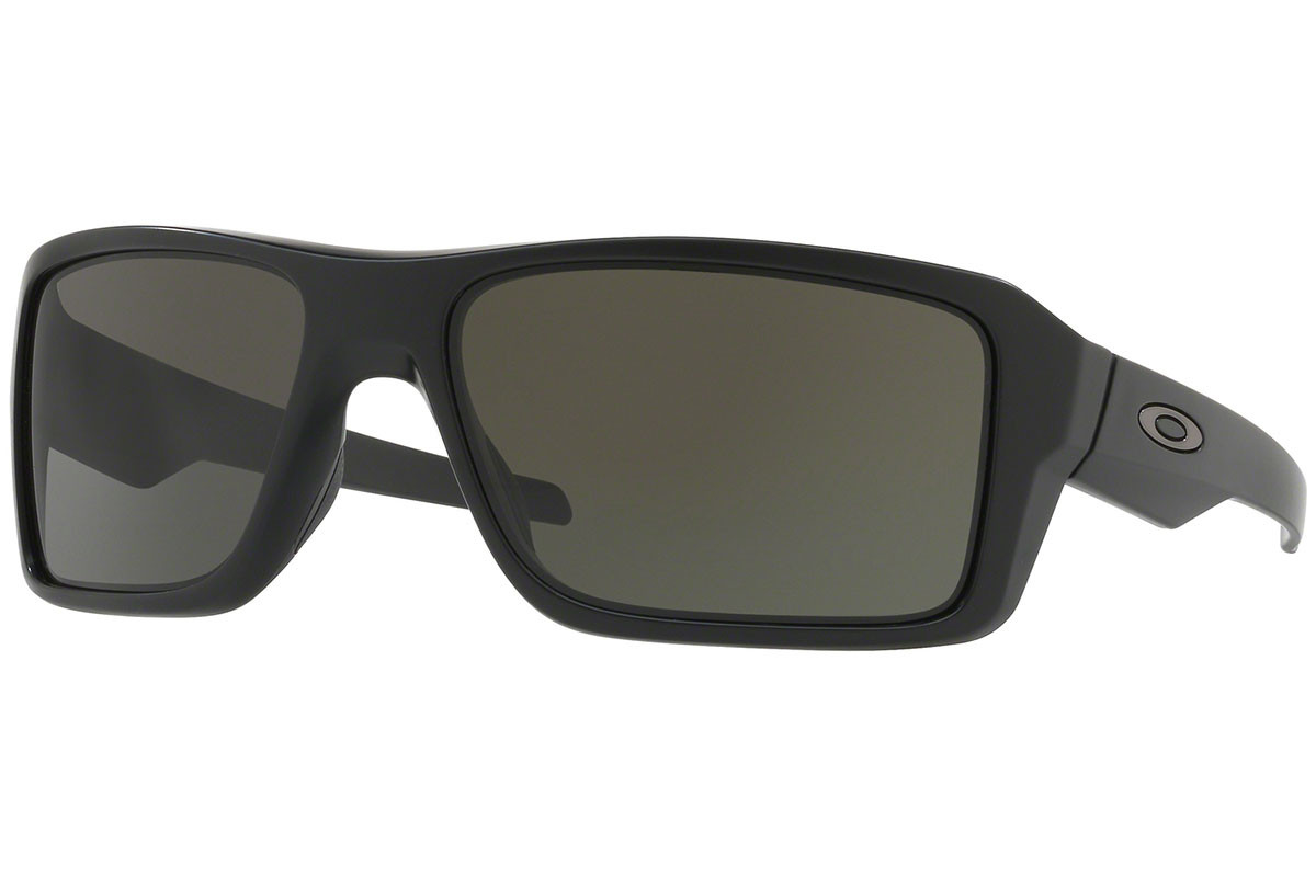 Oakley Double Edge OO9380-01. Frame color: Schwarz, Lens color: Grau, Frame shape: Rechteck