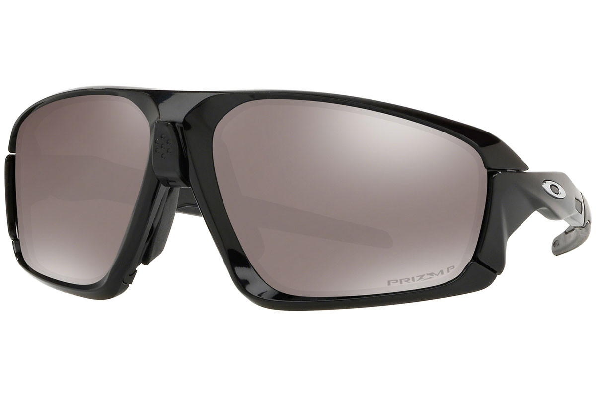 Oakley Field Jacket OO9402-08 PRIZM Polarized. Frame color: Black, Lens color: Brown, Frame shape: Squared