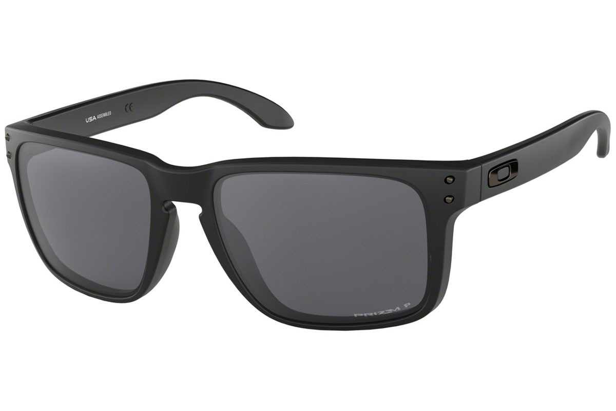 Oakley Holbrook XL OO9417-05 PRIZM Polarized. Frame color: Черна, Lens color: Сива, Frame shape: Квадратни