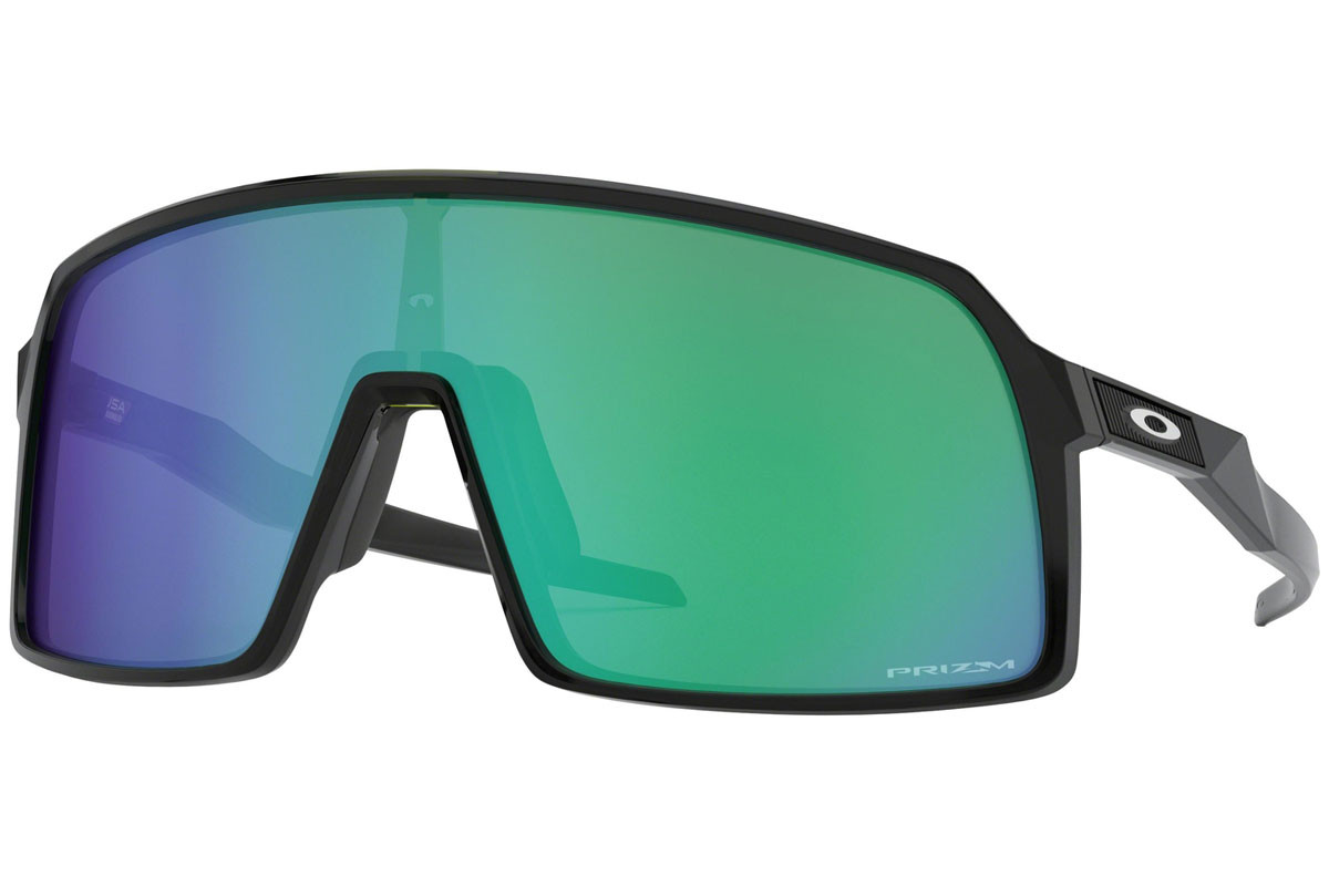 Oakley Sutro OO9406-03 PRIZM. Frame color: Black, Lens color: Green, Frame shape: Single Lens