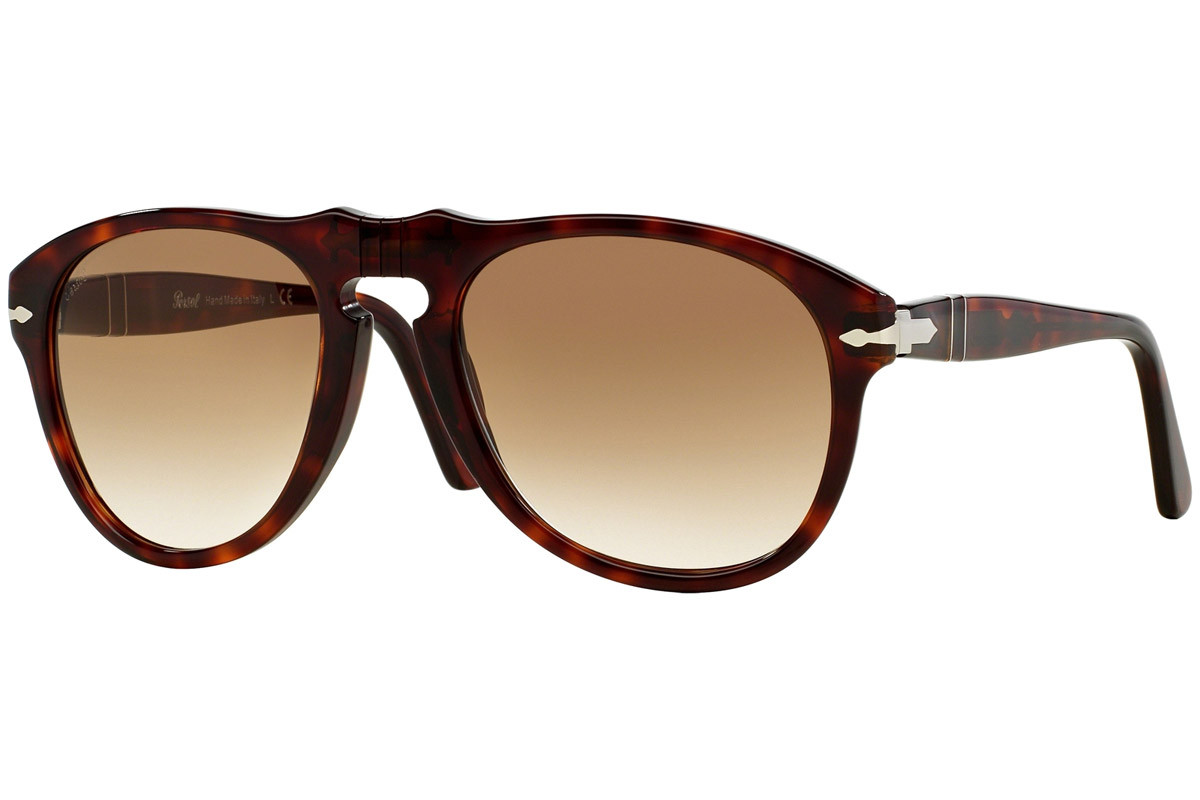 Persol 649 Series PO0649 24/51. Frame color: Havanna, Lens color: Braun, Frame shape: Pilot