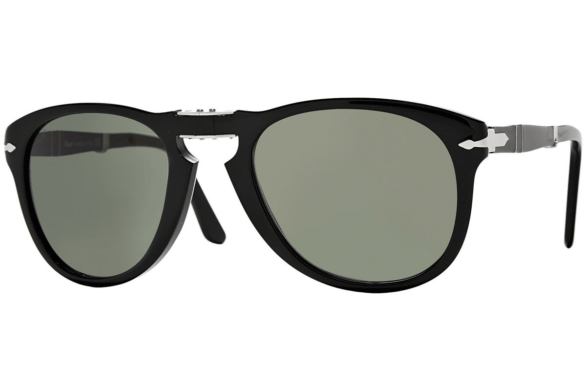 Persol Folding 714 Series PO0714 95/31. Frame color: Schwarz, Lens color: Grau, Frame shape: Pilot