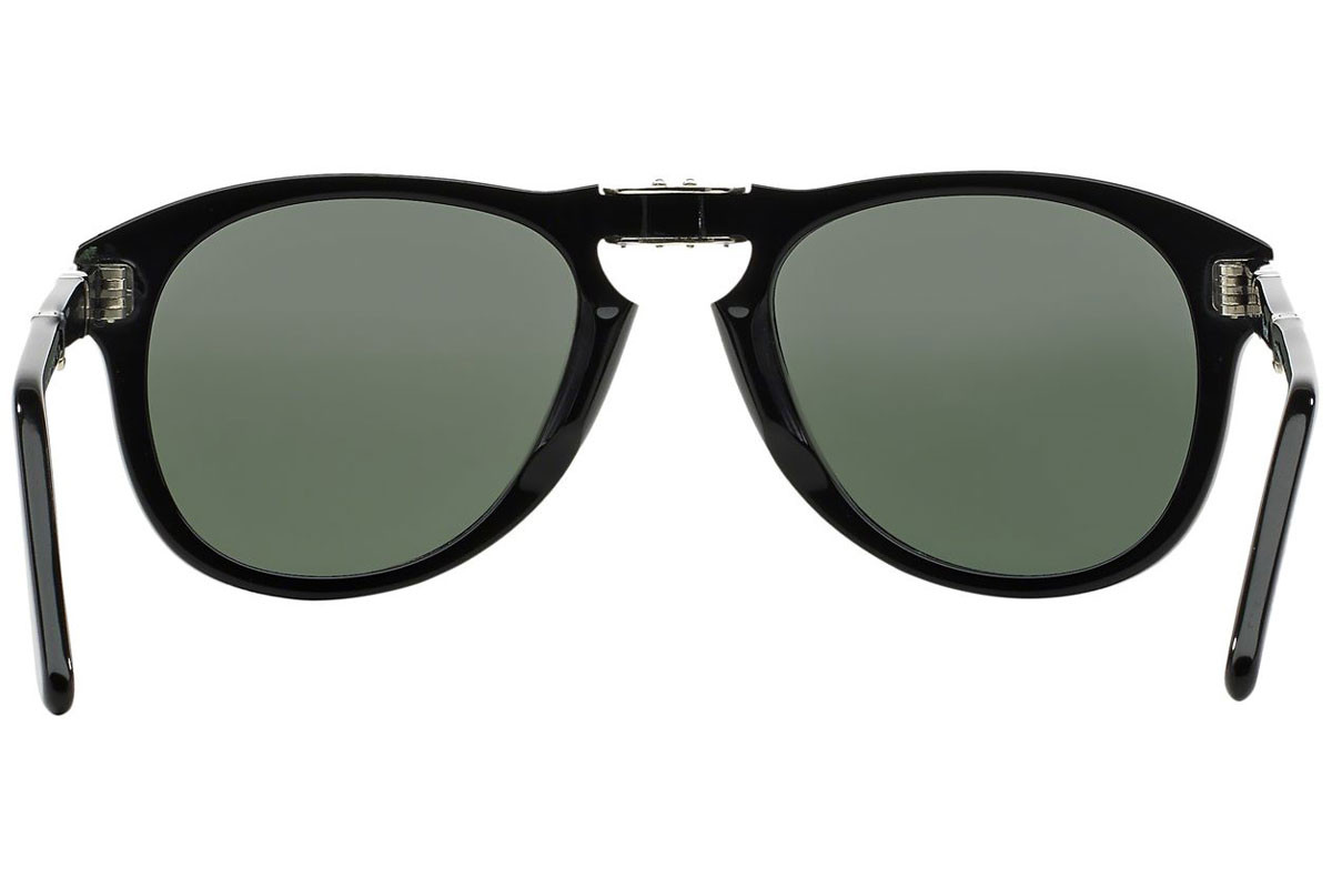 Persol Folding 714 Series PO0714 95/31. Frame color: Черна, Lens color: Сива, Frame shape: Пилотни