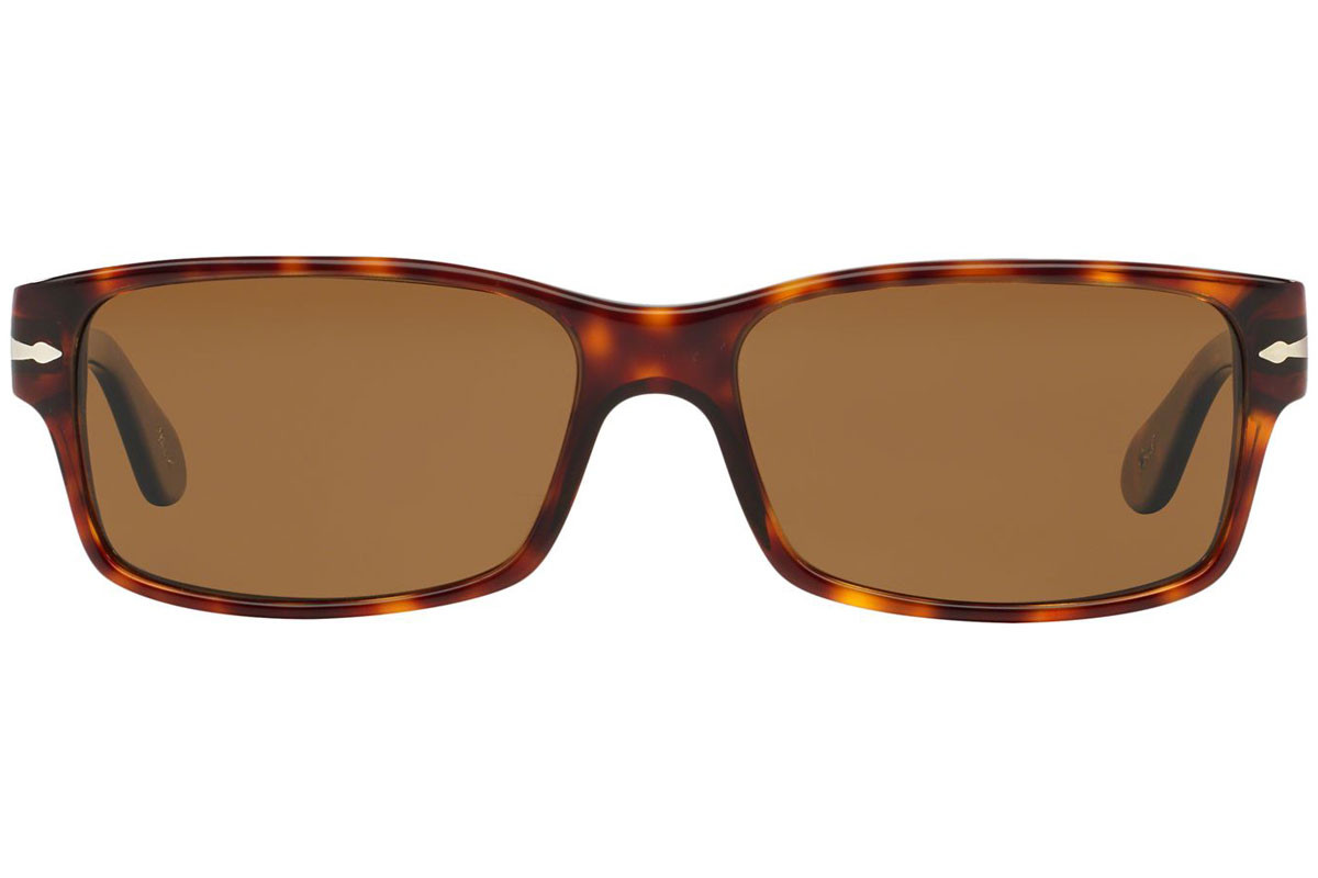 Persol PO2803S 24/57 Polarized. Frame color: Havana, Lens color: Rjava, Frame shape: Pravokotna