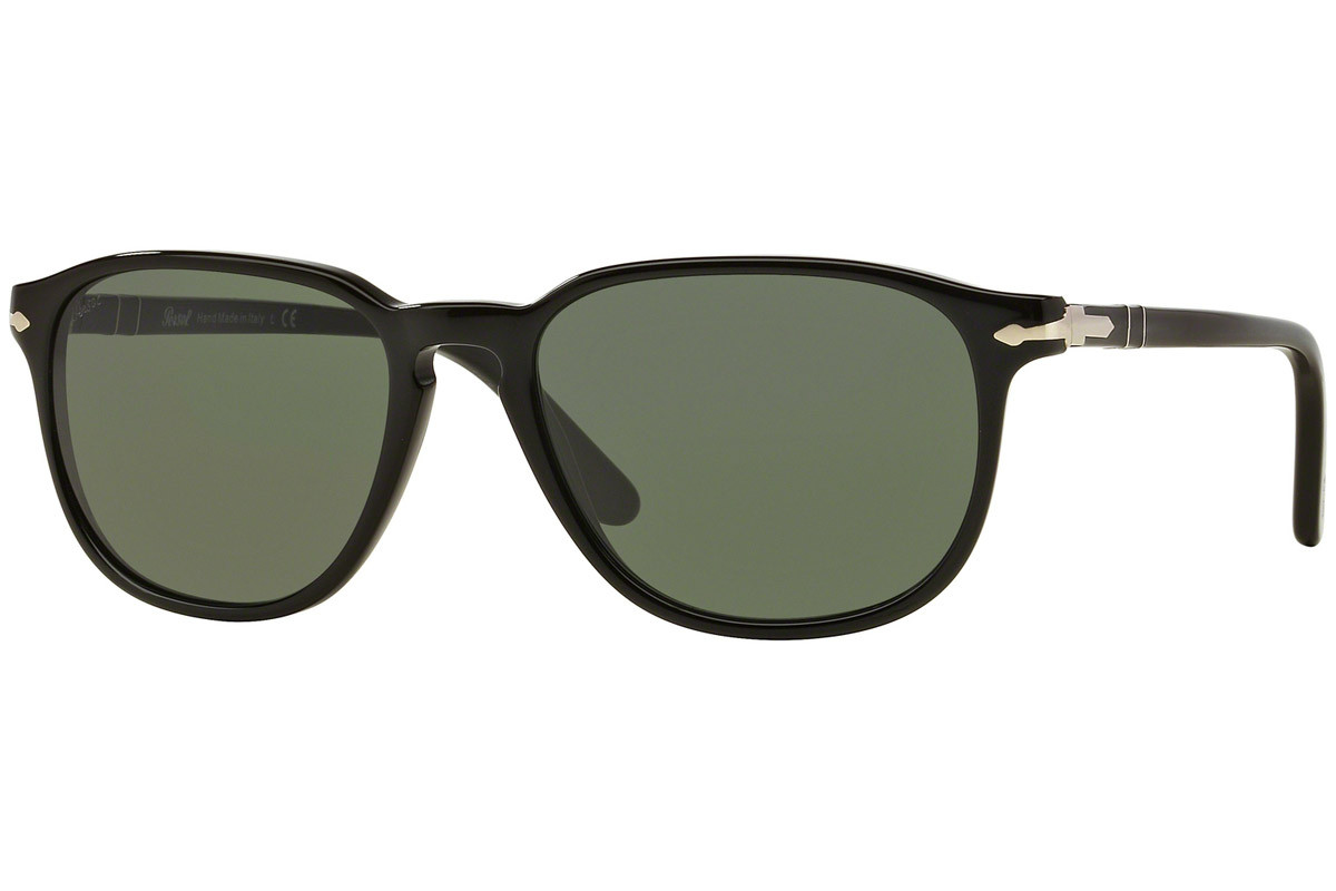 Persol Galleria '900 Collection PO3019S 95/31. Frame color: Schwarz, Lens color: Grau, Frame shape: Quadratisch