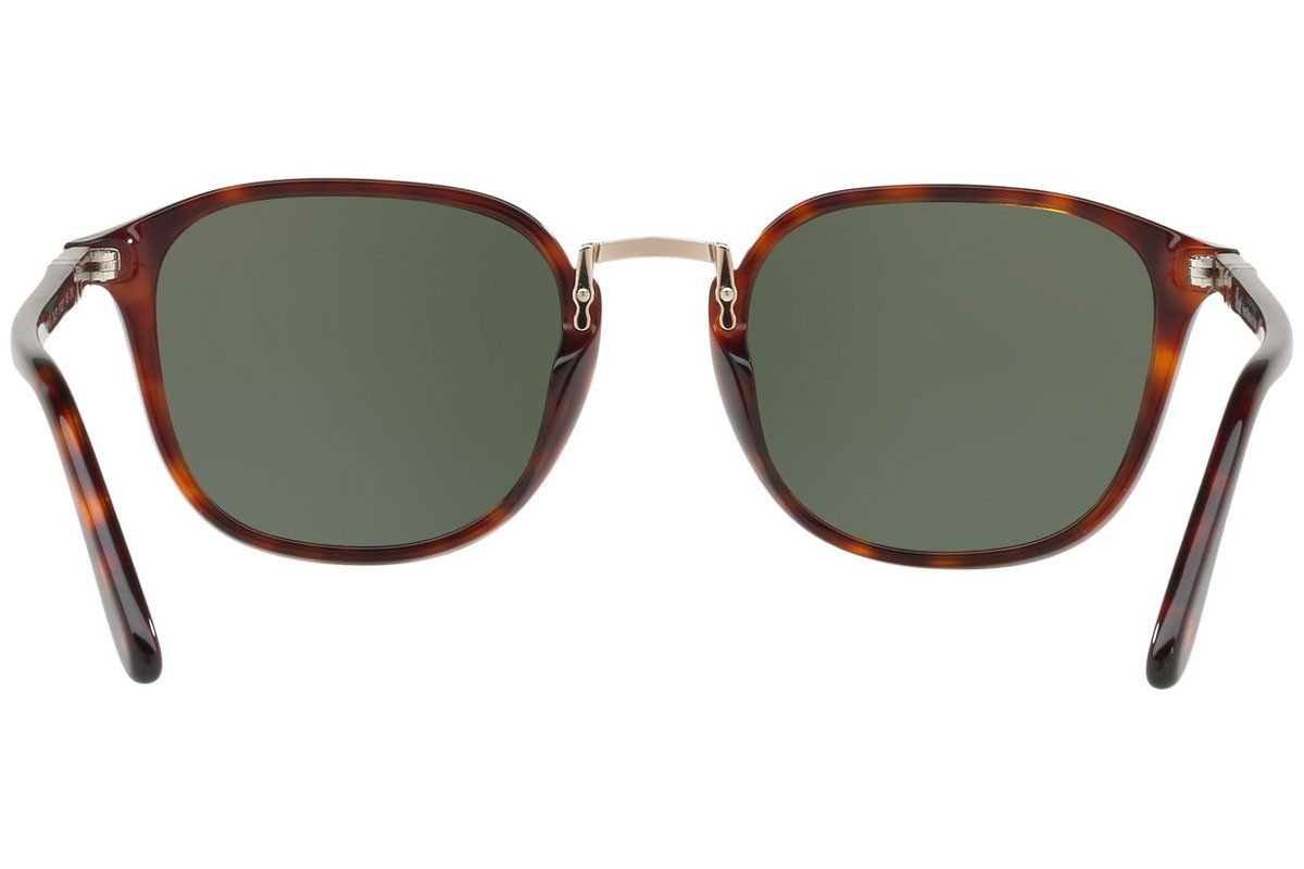 Persol Combo Evolution Collection PO3186S 24/31. Frame color: Havana, Lens color: Zeleni, Frame shape: Kvadratni