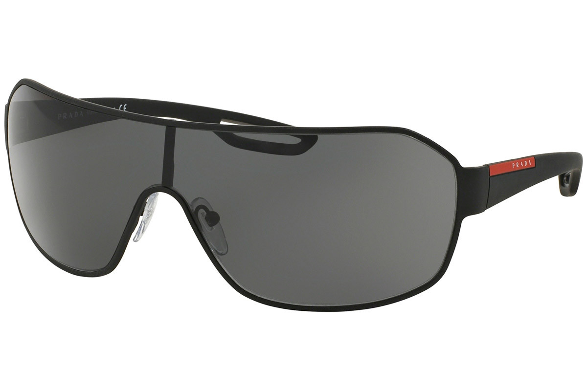 Prada Linea Rossa PS52QS DG01A1. Frame color: Black, Lens color: Grey, Frame shape: Single Lens