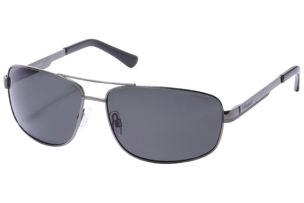 Polaroid P4314 A4X/Y2 Polarized. Frame color: Silber, Lens color: Grau, Frame shape: Pilot