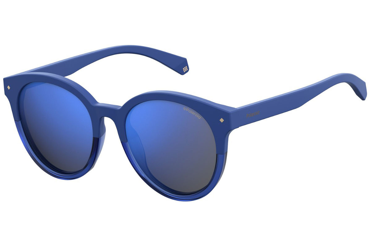 Polaroid PLD6043/F/S PJP/5X Polarized. Frame color: Blue, Lens color: Blue, Frame shape: Round