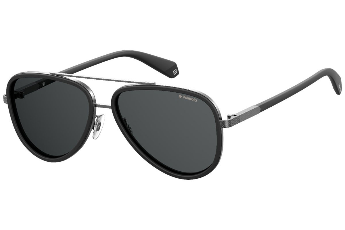 Polaroid PLD2073/S 003/M9 Polarized. Frame color: Grau, Lens color: Grau, Frame shape: Pilot