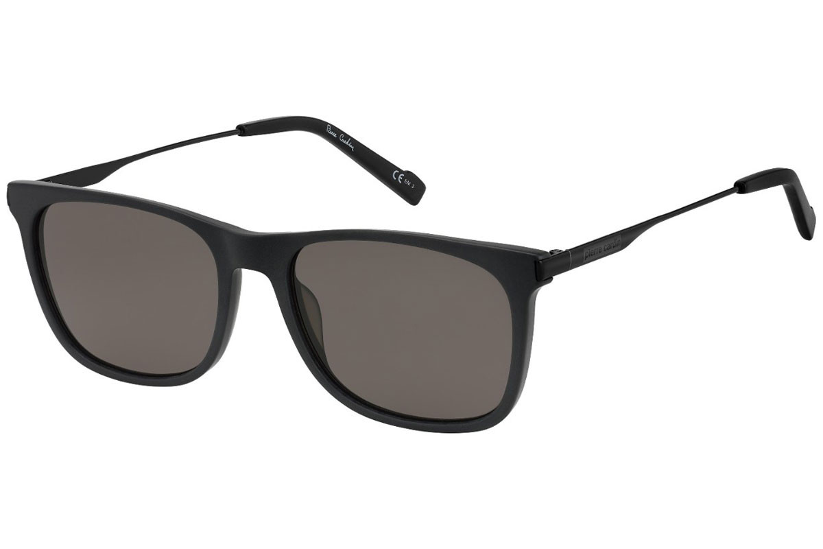 Pierre Cardin P.C.6214/S 003/IR. Frame color: Black, Lens color: Grey, Frame shape: Squared