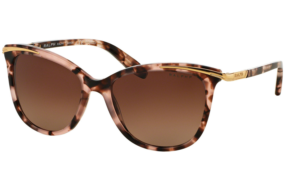 Ralph by Ralph Lauren RA5203 1463T5 Polarized. Frame color: Pink, Lens color: Brown, Frame shape: Cat Eye