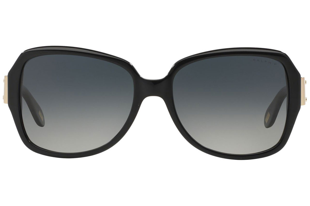 Ralph by Ralph Lauren RA5138 501/T3 Polarized. Frame color: Black, Lens color: Grey, Frame shape: Oversize