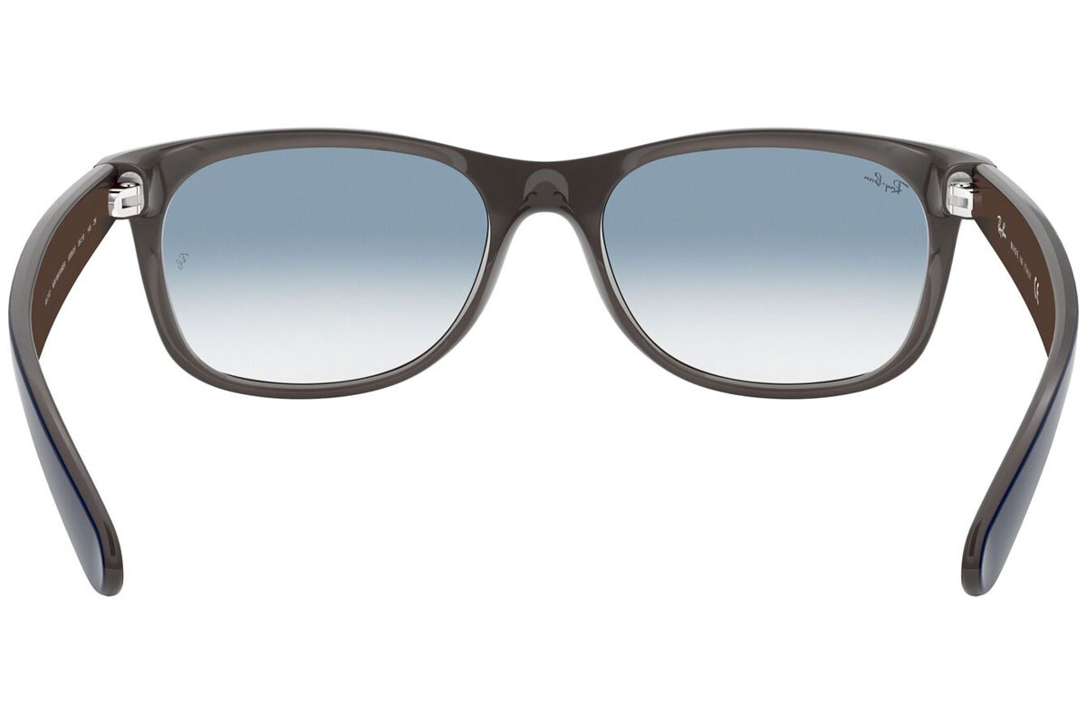 Ray-Ban New Wayfarer Color Mix RB2132 63083F. Frame color: Blue, Lens color: Blue, Frame shape: Squared