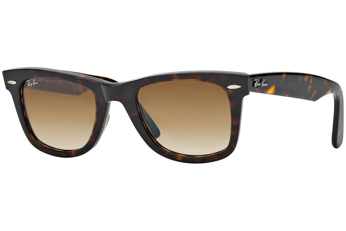 Ray-Ban Original Wayfarer Classic RB2140 902/51. Frame color: Havana, Lens color: Brown, Frame shape: Squared