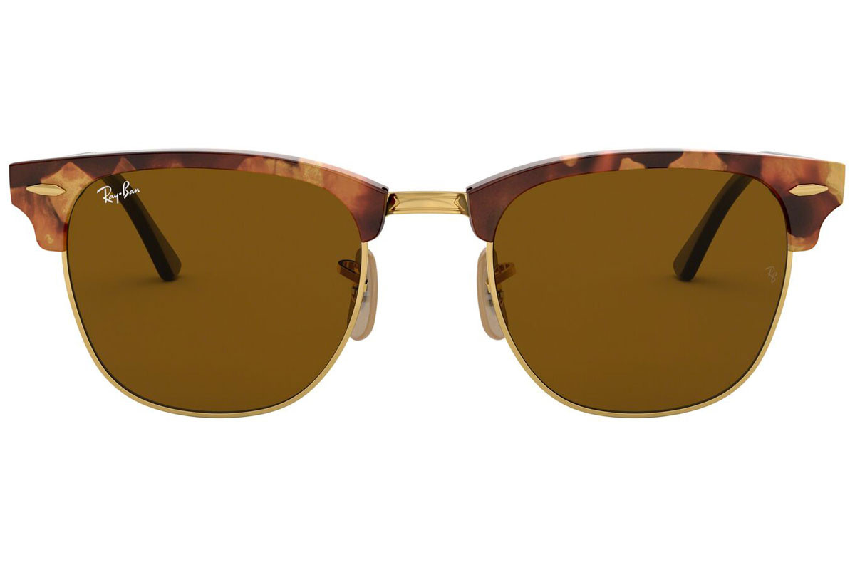 Ray-Ban Clubmaster Fleck Havana Collection RB3016 1160. Stelfarve: Havana, Linse Farve: Brun, Stel: Browline