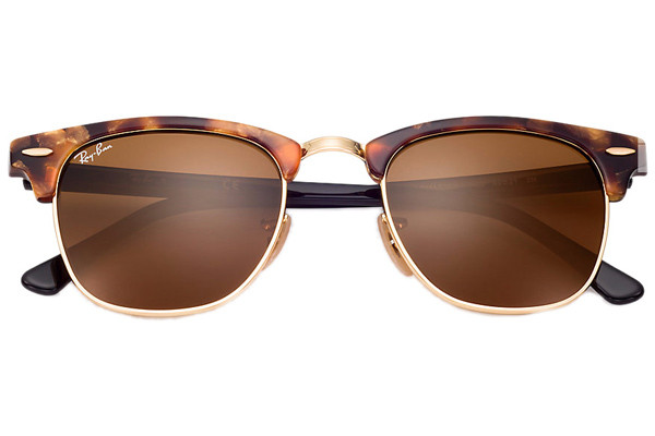 Ray-Ban Clubmaster Fleck Havana Collection RB3016 1160. Frame color: Havana, Lens color: Smeđi, Frame shape: Zadebljani gornji dio