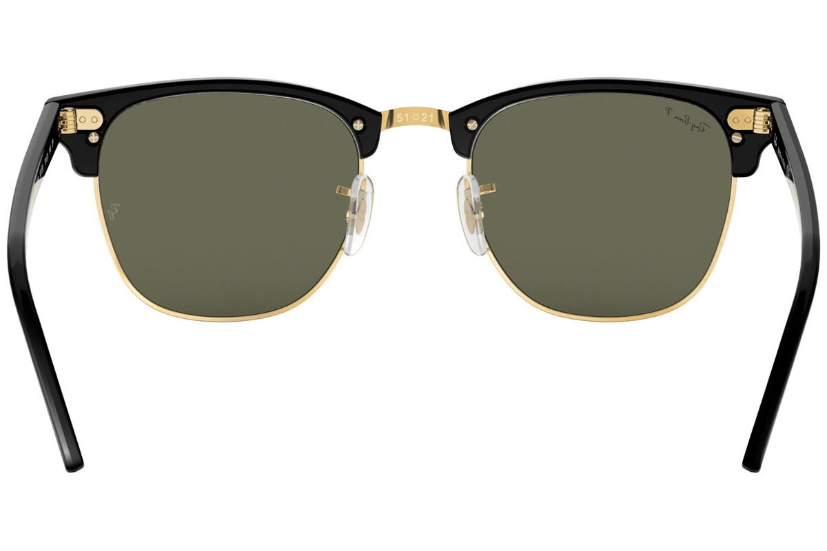 Ray-Ban Clubmaster RB3016 901/58 Polarized. Frame color: Черна, Lens color: Зелена, Frame shape: По веждите