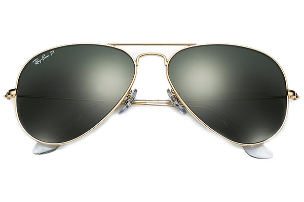 Ray-Ban Aviator Classic RB3025 001/58 Polarized. Frame color: Zlata, Lens color: Zelena, Frame shape: Pilotska