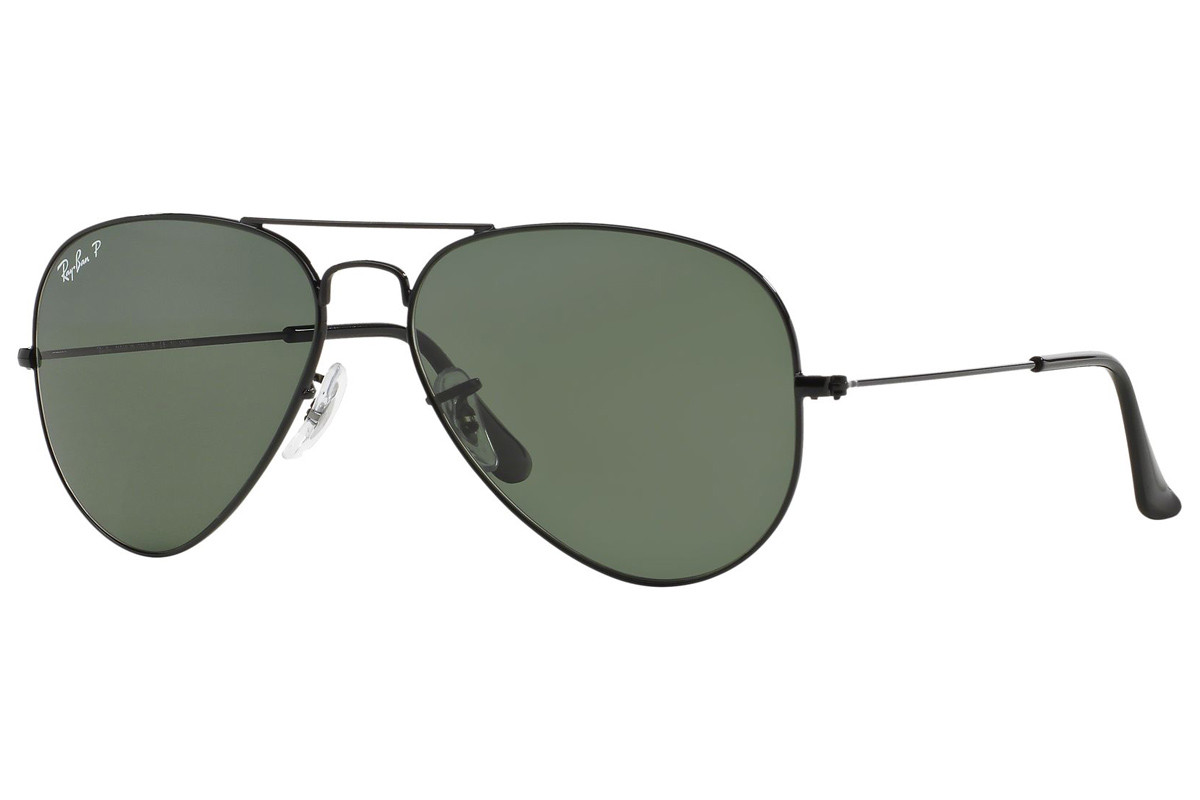 Ray-Ban Aviator Classic RB3025 002/58 Polarized. Frame color: Crni, Lens color: Zeleni, Frame shape: Pilotski