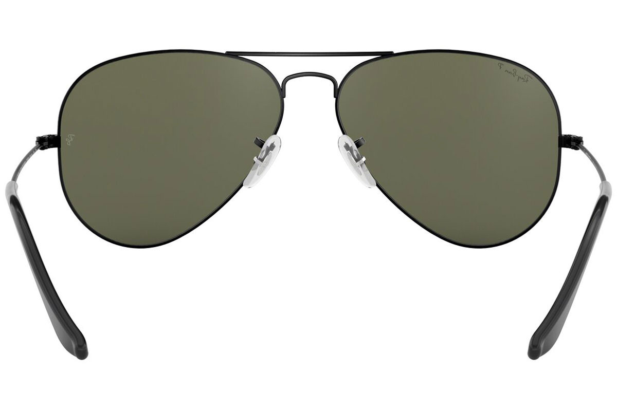 Ray-Ban Aviator Classic RB3025 002/58 Polarized. Frame color: Black, Lens color: Green, Frame shape: Pilot